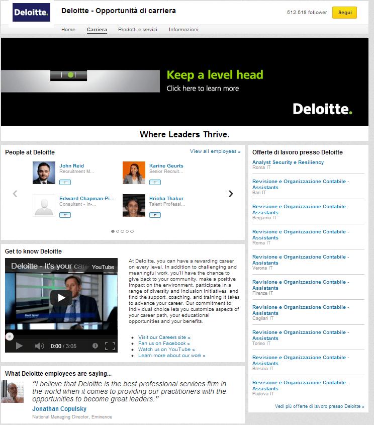 Fig. 2 pagina linkedin career