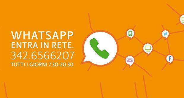 esempio social caring: whatsapp mobilita brescia