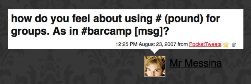 Chris Messina inventa hashtag