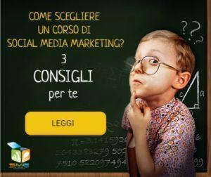 3 consigli corso Social Medi Marketing