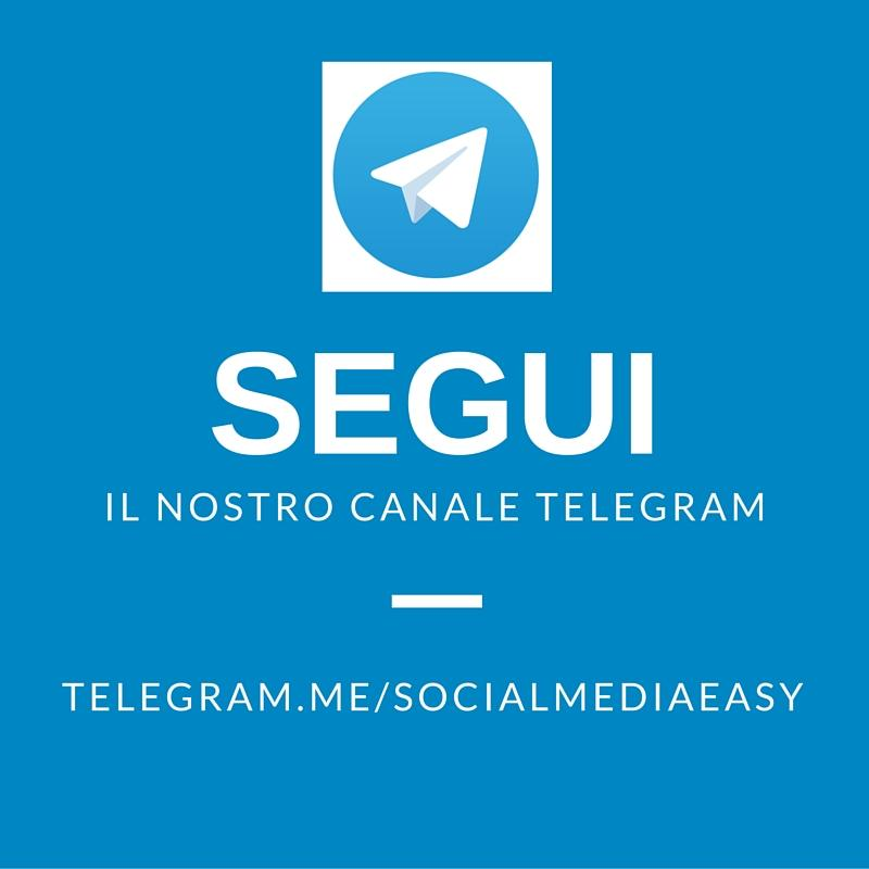 canale telegram - social media easy