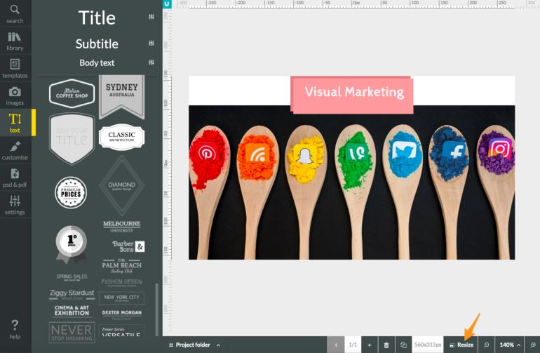 desygner - per fare visual marketing