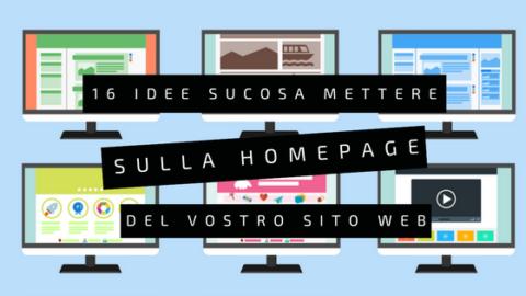 homepage sito web: 16 idee