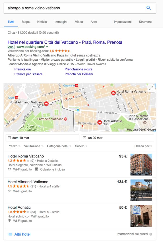 contenuti sito web albergo