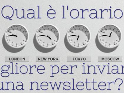 Qual è l'orario migliore per inviare una newsletter?