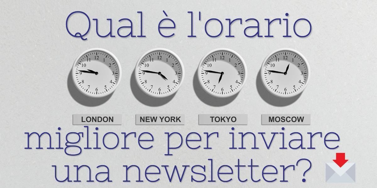 orario migliore invio newsletter