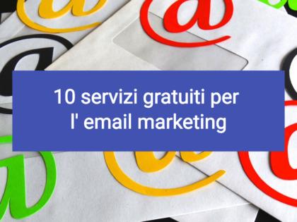 10 servizi gratuiti per l' email marketing