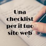 checklist sito web
