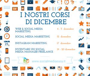 corsi social media dicembre