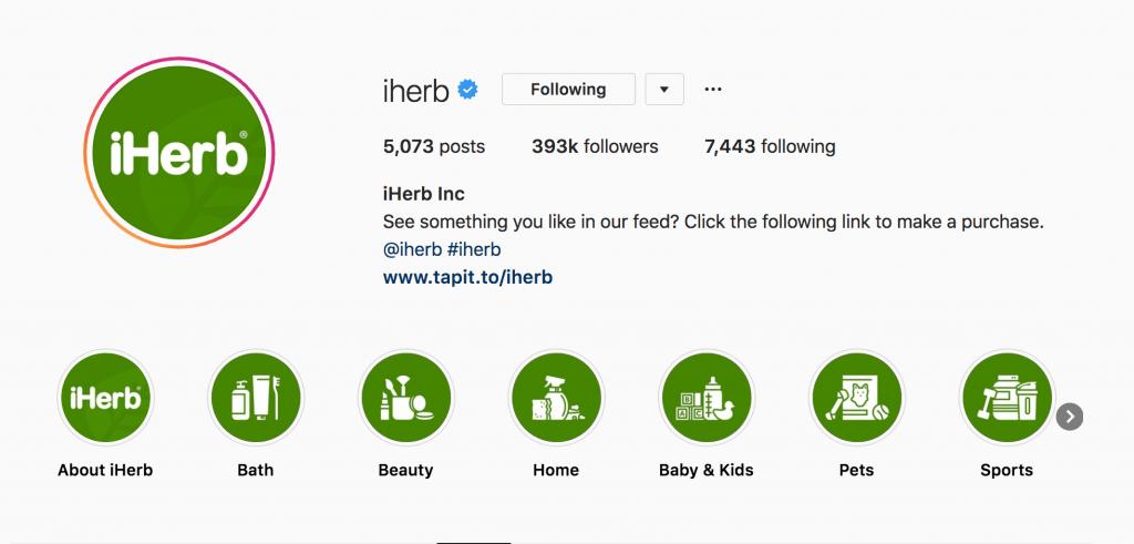 idee storie instagram: iherb