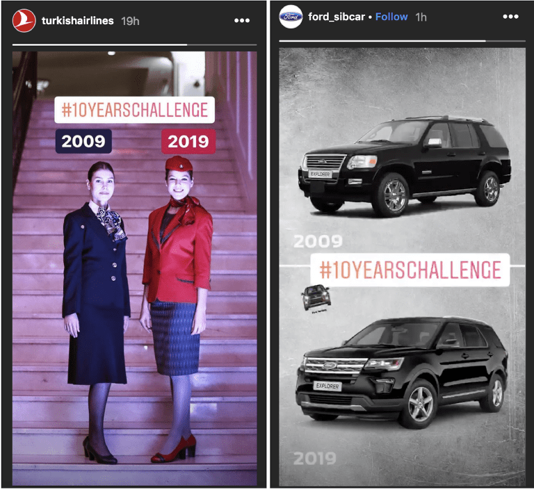 idee storie instagram: turkish airlines e ford (min)