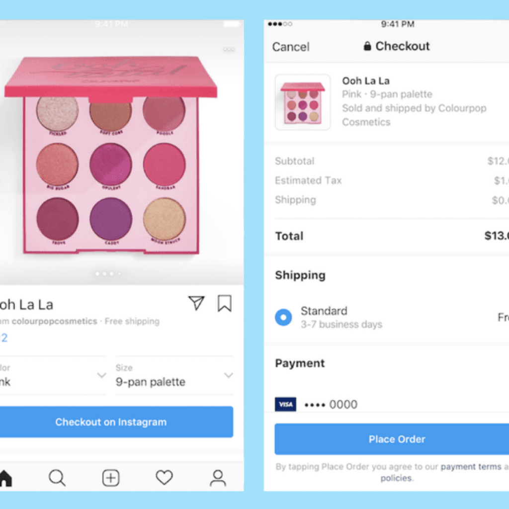 Instagram Shoppable Posts - esempio