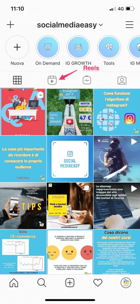 Instagram Reels scheda