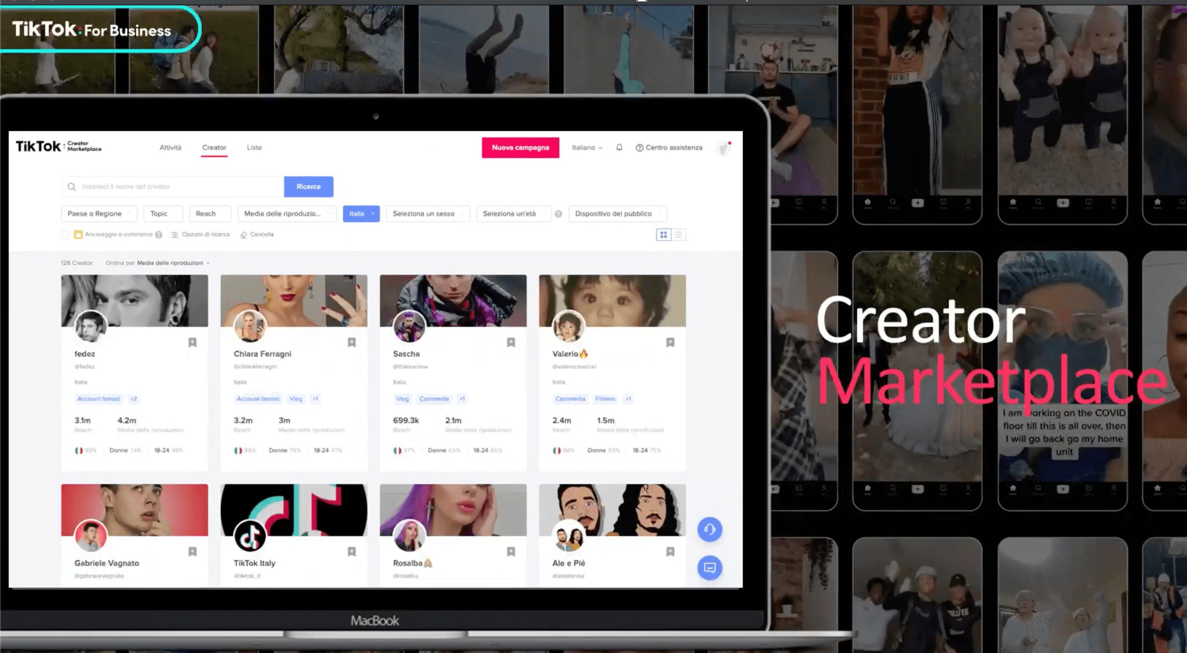 TikTok creators marketplace