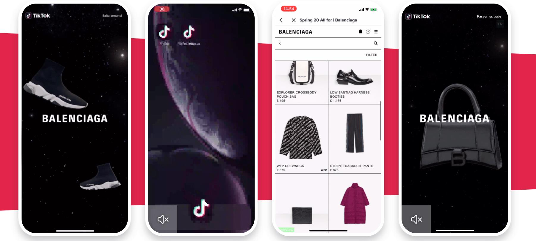 consigli video TikTok Balenciaga Ads